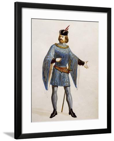 Costume Sketch for Arturo in La Straniera--Framed Art Print