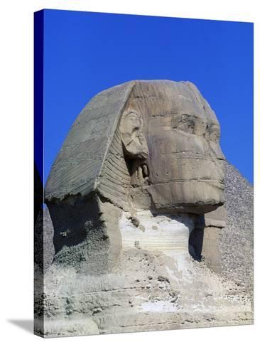 Sphinx of Giza, Giza Necropolis--Stretched Canvas Print