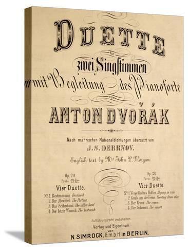Title Page of Duets-Antonin Leopold Dvorak-Stretched Canvas Print