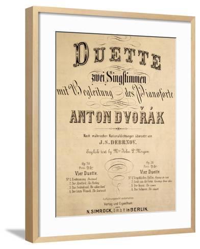 Title Page of Duets-Antonin Leopold Dvorak-Framed Art Print