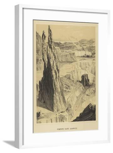 Penrhyn Slate Quarries--Framed Art Print