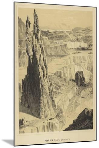 Penrhyn Slate Quarries--Mounted Giclee Print