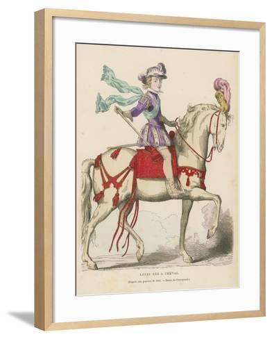 Louis XIII of France on Horseback--Framed Art Print