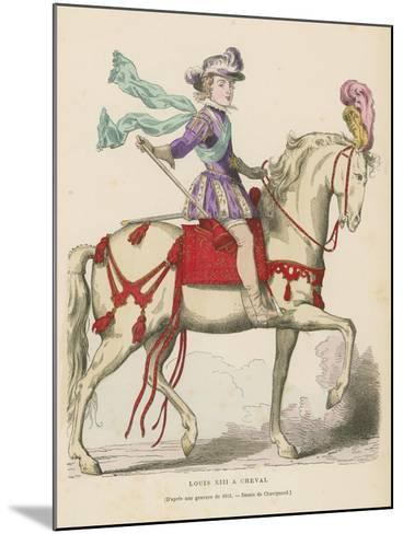 Louis XIII of France on Horseback--Mounted Giclee Print