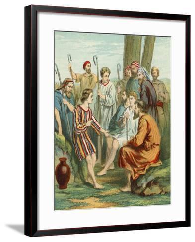 Joseph Wearing the Coat of Many Colours--Framed Art Print