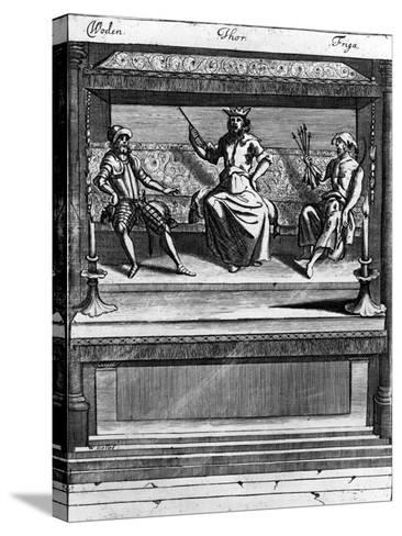 Woden, Thor and Friga, 1670-1680--Stretched Canvas Print