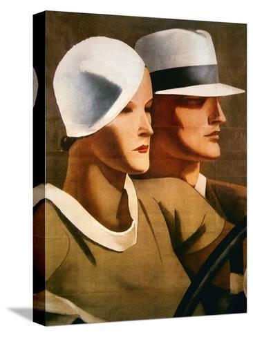 Advert for Italian Hatmaker Borsalino, 1929--Stretched Canvas Print