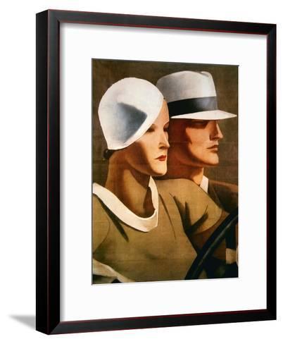 Advert for Italian Hatmaker Borsalino, 1929--Framed Art Print