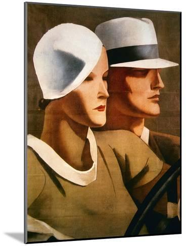 Advert for Italian Hatmaker Borsalino, 1929--Mounted Giclee Print