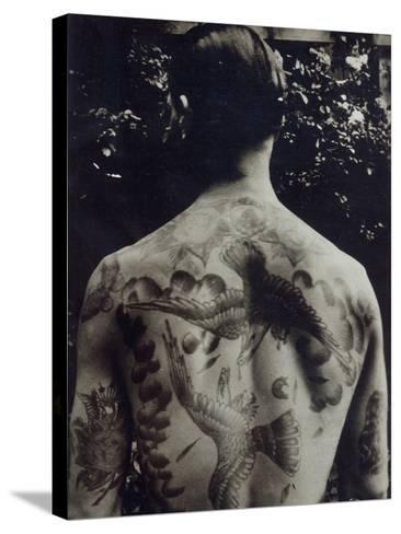 A Tattooed Man--Stretched Canvas Print