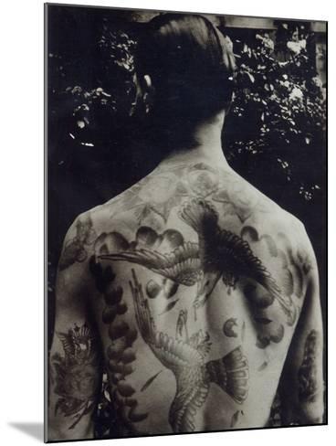 A Tattooed Man--Mounted Photographic Print