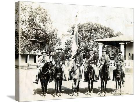 Men on Horseback--Stretched Canvas Print