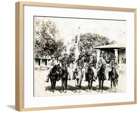Men on Horseback--Framed Art Print
