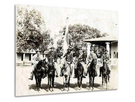 Men on Horseback--Metal Print