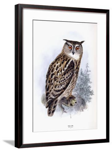 Eagle Owl-Johan Gerard Keulemans-Framed Art Print