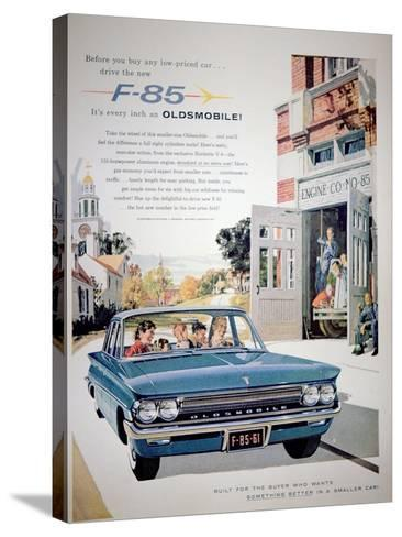 Advertisement for the F-85 Oldsmobile Car, 1961--Stretched Canvas Print