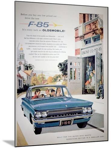 Advertisement for the F-85 Oldsmobile Car, 1961--Mounted Giclee Print