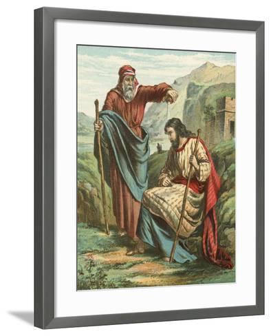 Samuel Blessing Saul--Framed Art Print
