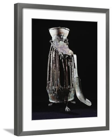 Bronze Cage Which Held Bag of Sand--Framed Art Print
