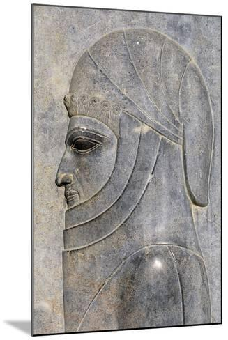 Bas-Relief from Treasure Room, Persepolis--Mounted Photographic Print