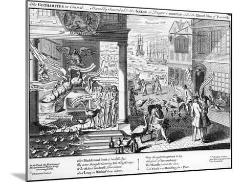 The Gothamites in Council, 1761--Mounted Giclee Print