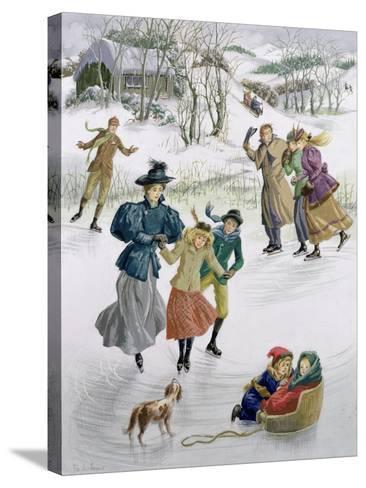 Skaters, 1999-Pauline Baynes-Stretched Canvas Print
