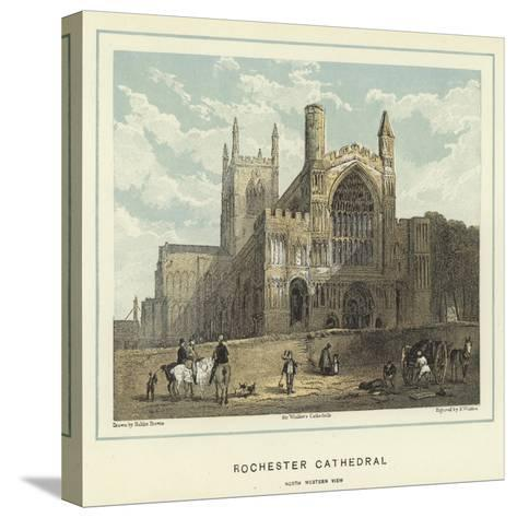 Rochester Cathedral, North Western View-Hablot Knight Browne-Stretched Canvas Print