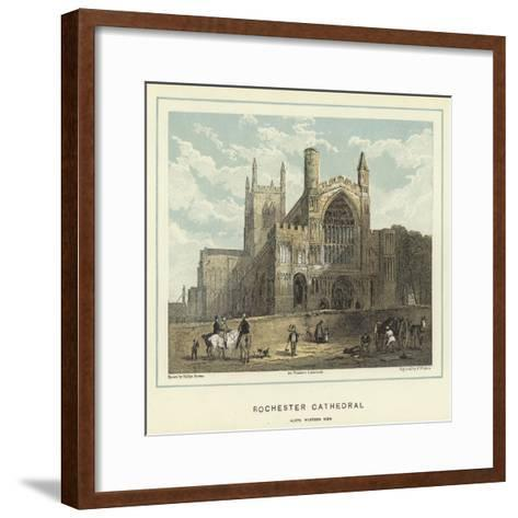 Rochester Cathedral, North Western View-Hablot Knight Browne-Framed Art Print