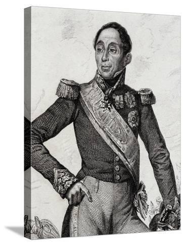 Portrait of Emmanuel De Grouchy--Stretched Canvas Print