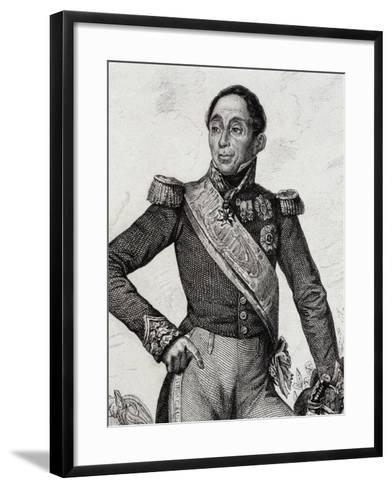 Portrait of Emmanuel De Grouchy--Framed Art Print