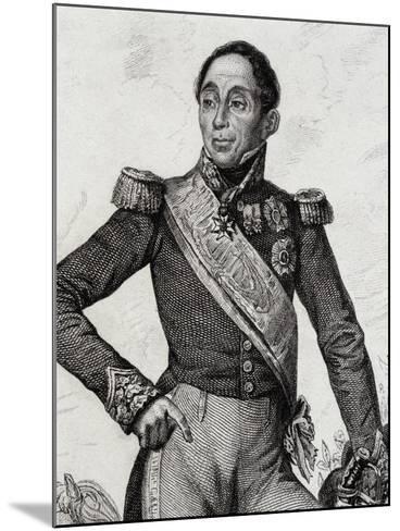 Portrait of Emmanuel De Grouchy--Mounted Giclee Print