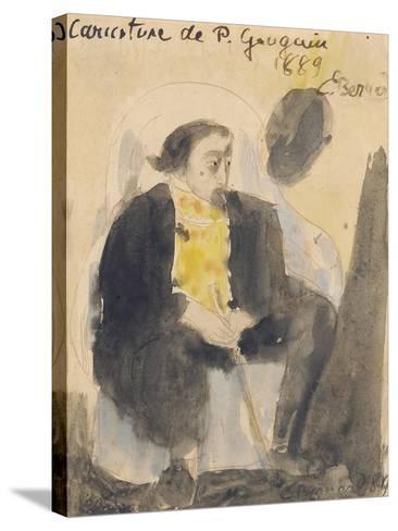Caricature of Paul Gauguin, 1889-Emile Bernard-Stretched Canvas Print