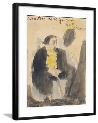 Caricature of Paul Gauguin, 1889-Emile Bernard-Framed Art Print