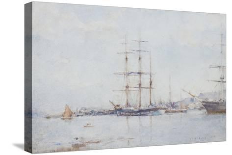 Falmouth Bay, 1925-Henry Scott Tuke-Stretched Canvas Print