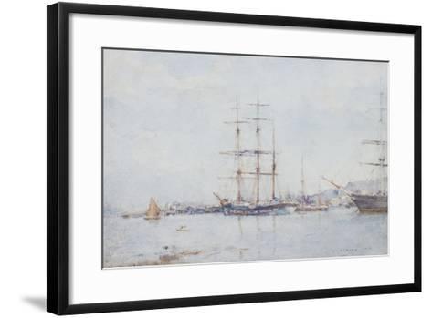 Falmouth Bay, 1925-Henry Scott Tuke-Framed Art Print