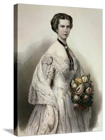 Portrait of Elisabeth of Austria--Stretched Canvas Print