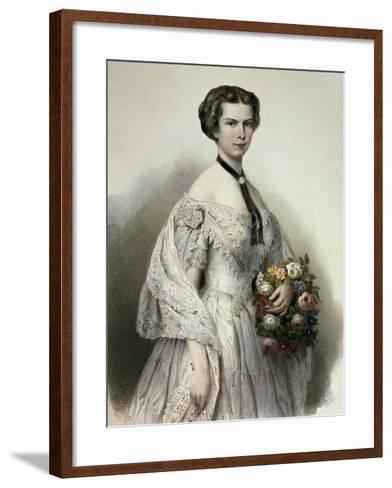 Portrait of Elisabeth of Austria--Framed Art Print
