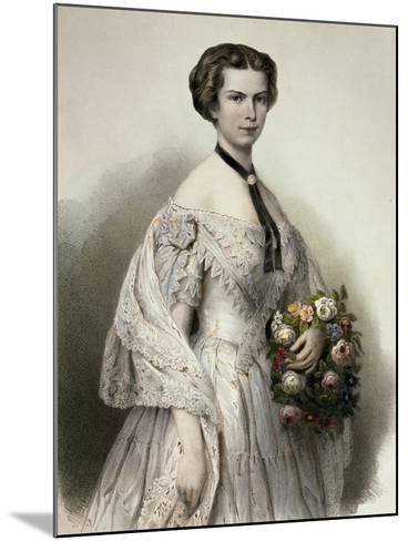 Portrait of Elisabeth of Austria--Mounted Giclee Print