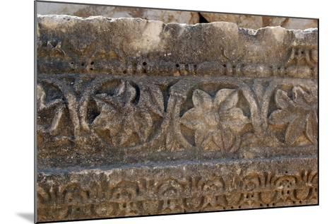 Decorative Carved Border Design, Patara, Turkey--Mounted Photographic Print