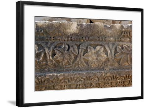 Decorative Carved Border Design, Patara, Turkey--Framed Art Print