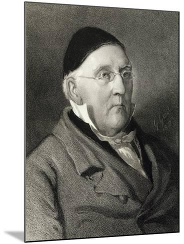 Portrait of Louis Ludwig Spohr--Mounted Giclee Print