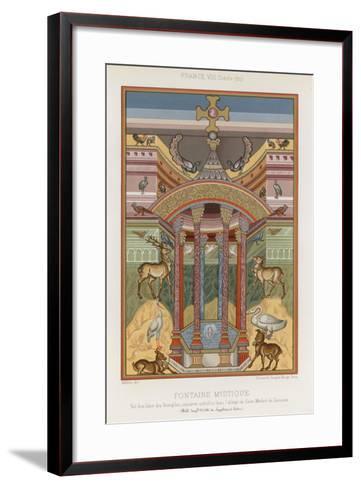 An 8th-Century Depiction of a Mystical Fountain--Framed Art Print