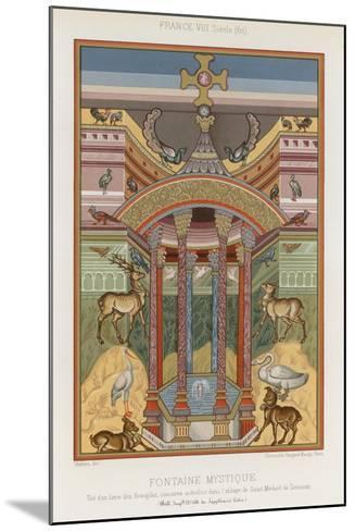 An 8th-Century Depiction of a Mystical Fountain--Mounted Giclee Print