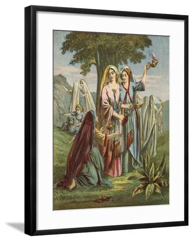 Parable of the Ten Virgins--Framed Art Print