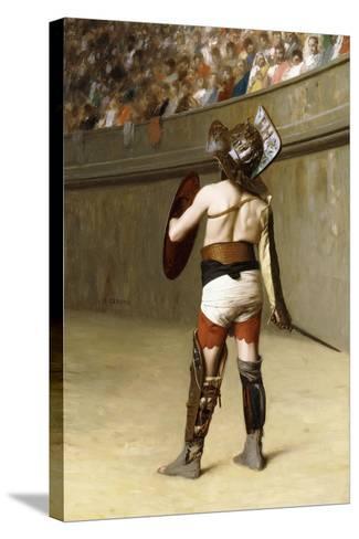 Mirmillon - a Gallic Gladiator-Jean Leon Gerome-Stretched Canvas Print