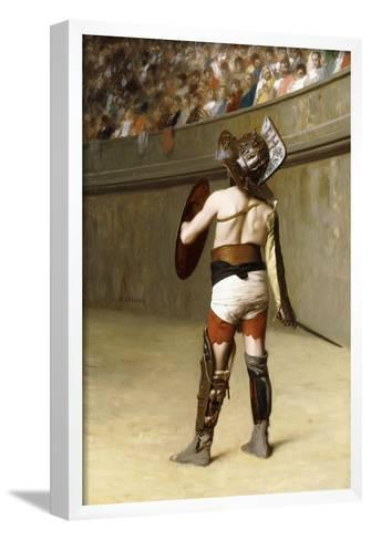 Mirmillon - a Gallic Gladiator-Jean Leon Gerome-Framed Art Print