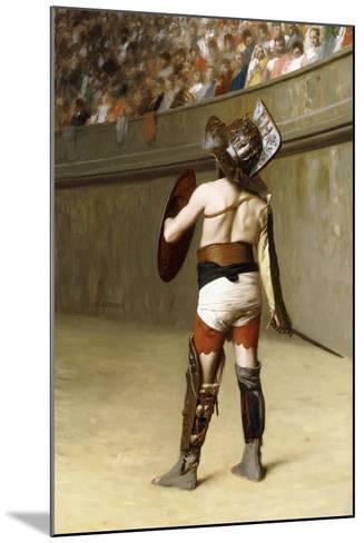 Mirmillon - a Gallic Gladiator-Jean Leon Gerome-Mounted Giclee Print