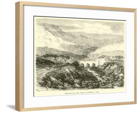 """Quiquijana, the """"Most Faithful"""" City-?douard Riou-Framed Art Print"""