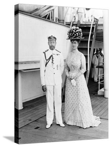 Their Majesties at Aden, 1911--Stretched Canvas Print