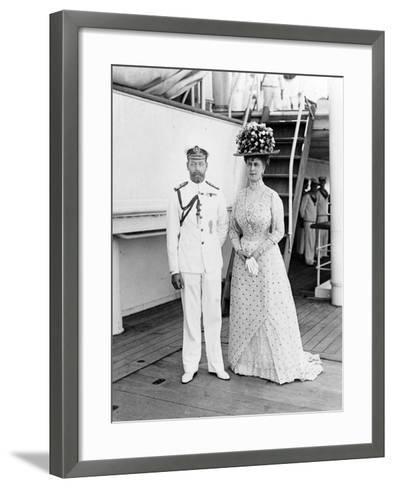 Their Majesties at Aden, 1911--Framed Art Print